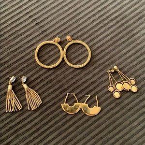 Jcrew statement earring bundle